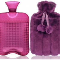 Hot water bottle for pain releif