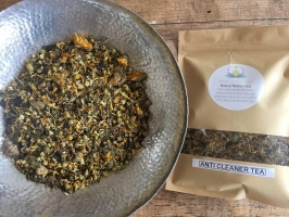 Solvents and cleaning products detox herbal tea blend